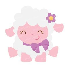 SVG files and clipart for scrapbooking and paper crafts Baby Sheep, Cute Sheep, Sheep And Lamb, Farm Animal Party, Cute Lamb, Easter Lamb, Baby Lamb, Cute Illustration, Baby Quilts