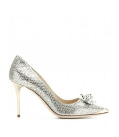 DRIVER EMBELLISHED GLITTERED PUMPS