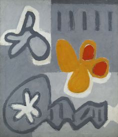 Raymond Hendler, Fallen Knight, 1960  Magna on canvas