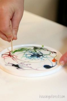 Paint with glue
