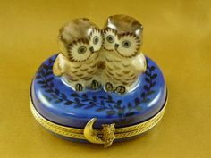Two owls limoges - Porcelain Limoges from France - Limoges Factory Co.