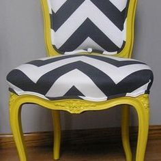Charcoal and Yellow Chair