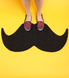 Mustache Door Mat...Jen i think you need this in your home