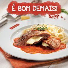 Bom demais o polpettone da Spoleto! Carne macia e recheada com mussarela! Ideal para o almoço de hoje!