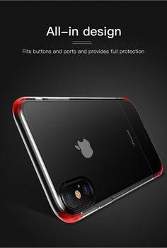 Baseus Protective Case For iPhone XS Hybrid Color Transparent Fingerprint Resistant Back Cover Pc Cases, Iphone Cases, Iphone Models, Pouch Bag, Protective Cases, Cover, Phone Accessories, Gadgets, Apple