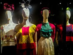 Frida Kahlo's Dresses, Mexico City. The Mexican artist Frida Kahlo was famous for her sense of style. She always dressed in some variation based on the clothing of her native Oaxaca.