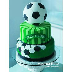 Soccer Birthday Parties, Soccer Party, Soccer Baby Showers, Football Birthday Cake, Sports Themed Cakes, Soccer Cake, Cake Decorating With Fondant, Sport Cakes, Themed Cupcakes
