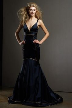 Thin Strap V-Neckline Mermaid Best Sexy Evening Dresses, Quality Unique Evening Dresses - Dressale.com