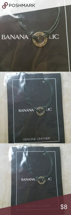 Banana Republic Genuine Leather Bracelet This is a genuine leather strand bracelet with accent charm by Banana Republic. New in packaging & never worn. Cute for the beach! All reasonable offers always accepted! Banana Republic Jewelry Bracelets