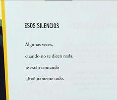 Sus silencios...