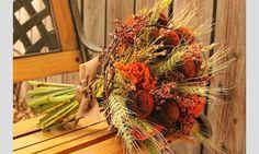Bouquets para noivas de outono