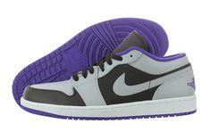 Nike Air Jordan 1 Low Black/Dark Concord/Gray Mens Basketball Shoes Size 11.5