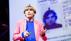 "Neil Harbisson, a sonochromatic cyborg artist, at a TED gathering last week in Edinburgh, Scotland.    Artist Neil Harbisson was born completely color blind, but these days a device attached to his head turns color into audible frequencies. Instead of seeing a world in grayscale, Harbisson can hear a symphony of color -- and yes, even listen to faces and paintings.    Neil Harbisson's ""eyeborg"" allows him to hear colors, even those beyond the range of sight."