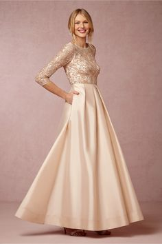 Viola Dress from BHLDN Blush beaded mother-of-the-bride gown @BHLDN