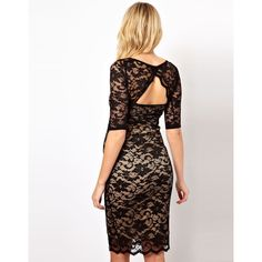 Asos Maternity Lace Dress With Cut-Out Back ($70) ❤ liked on Polyvore
