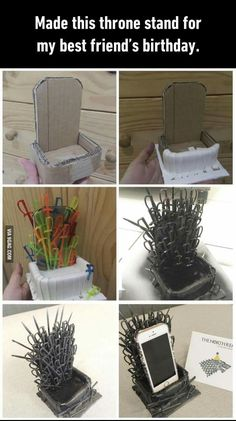 Game of Thrones iphone Stand   Game of Thrones, GOT, Iron Throne, phone stand, art, swords, Stark, HBO, show