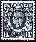 (716) VERY GOOD LIGHTLY CANCELLED GVI 1939 10/- DARK BLUE (sg478) - 1939, blue, cancelled, dark, good, lightly, sg478, very