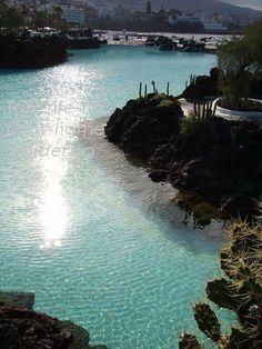 Man made lakes by the late environmentalist César Manrique in Puerto de la Cruz