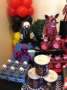 9th Birthday Parties, 13th Birthday, Birthday Ideas, Five Nights At Freddy's, Villains Party, Freddy 's, Party Themes, Party Ideas, Party Favors