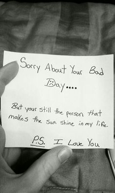 Love you too.it was a beautiful day with you.Yoga time now. Sorry about your bad Day. But your still the person that makes the sun shine in my life. I Love You Cute Boyfriend Gifts, Cute Things To Do For Your Boyfriend, Sweet Messages For Boyfriend, Love Letters To Your Boyfriend, Boyfriend Crafts, Boyfriend Anniversary Gifts, Hopeless Romantic, Cute Quotes, Relationship Quotes