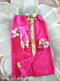 Hot Pink Sandals with Lime Green with Hot Pink Polka Dots Bow Centered by a Rhinestone. $15.00, via Etsy.