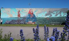 """""""Kihnu Naine & the Summer Solstice"""" Beautiful and sensitive mural by @aaronglasson for #Mextonia Festival created by @nuevearteurbano and @todoesuno in Tallinn, Estonia #visitestonia #tbt #throwbackthursday • The piece is about Kihnu, an Island to the south of Estonia that has a long and delicate relationship with the sea and outside world. Kihnu is regarded as one of the world's last remaining matriarchal societies. Its economy is reliant on the island's men, who spend most of their time…"""