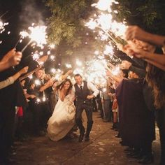 20 Sparklers Send Off Wedding Ideas for 2018 Oh Best Day Ever is part of Wedding fireworks If you're planning a sparkler sendoff, be sure to let your photographer, and your guests know in advance - Romantic Wedding Receptions, Wedding Exits, Romantic Wedding Photos, Nontraditional Wedding, Wedding Poses, Wedding Pictures, Wedding Photoshoot, Wedding Ceremony, Wedding Registries