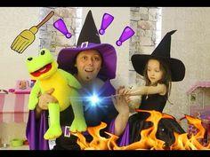Kötü Cadı İle Acemi Cadı Öykü ve KURBAĞA PRENS - Büyücülük dersleri 2 - ...