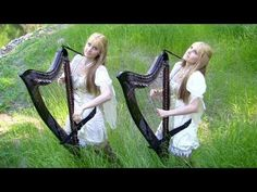 """Identical Twins Camille&Kennerly play their electric duet harp arrangement of The Hobbit main theme: """"Misty Mountains Cold""""! I so love the sound of the Celtic harp! Legolas And Tauriel, Soundtrack Music, Celtic Culture, My Romance, Celtic Music, Sci Fi Fantasy, My Favorite Music, Middle Earth, Celtic"""