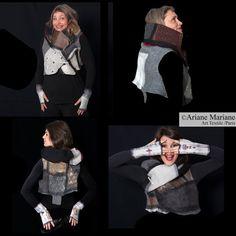 Nuno Felt Art Vest Merino Wool Women Vest by ArianeMariane on Etsy