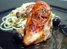 Italian Roasted Chicken (Rosemary Lemon)  Easier on the lemon nest time.