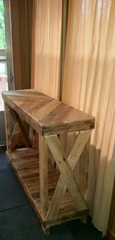 Another great idea for the entryway! These have also been used as a TV stand as well as a sofa table. #rusticcouchtvstands (rustic couch tv stands)