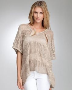 bebe Drop Needle Metallic Poncho