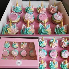 Unicorn Cupcakes Unicorn Cupcakes for 6th birthday party
