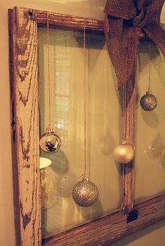 """Have a couple window panes stashed in the shop.  Like the """"rustic"""" feel of the burlap."""