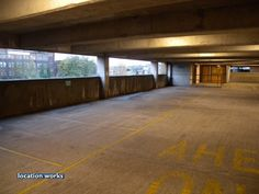 Top floors (7-10) of a multi-storey car park in south London with a spectacular view of London. Three large spaces are available for hire.
