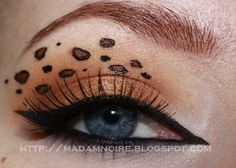 Madam Noire Makeup Studio: Tutorial: Leopard print eyes