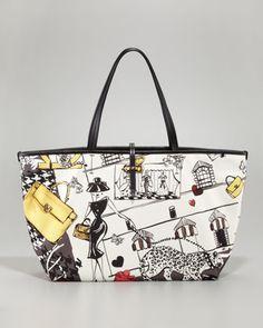 81630cc1cbdb Salvatore Ferragamo Bice Scarf-Print Tote Bag