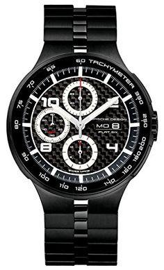 cool Porsche Design Flat Six Automatic Chronograph PVD Coated Steel Mens Watch Calendar 6360.43.04.0275 just added...