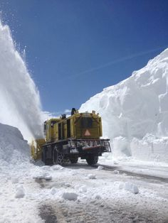 Plowing Beartooth Highway  May 2014.... could not have been easy...