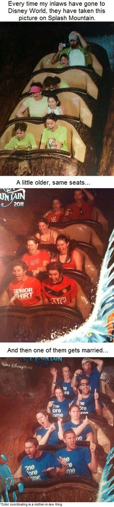 Pictures on Disneys Splash Mountain over time... I love this