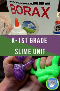Get the glue and borax ready.  This fun lab and STEM challenge is sure to be unforgettable.  A teacher guide and recipe is included to help guide kindergarten and first graders to discovery.  Slime makes a great Halloween or Christmas activity.  The included lab makes a great science fair project.