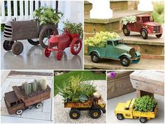 Up-cycle old toys as planters