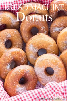 Easy Bread Machine Donuts is a simple method for making fresh homemade donuts using your bread machine! Bread Machine Donut Recipe, Easy Bread Machine Recipes, Best Bread Machine, Bread Maker Recipes, Easy Donut Recipe, Donut Recipes, Baking Recipes, Homemade Donuts, Homemade Breads