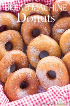 Bread Machine Donut Recipe, Easy Bread Machine Recipes, Best Bread Machine, Bread Maker Recipes, Easy Donut Recipe, Donut Recipes, Baking Recipes, Homemade Donuts, Homemade Breads