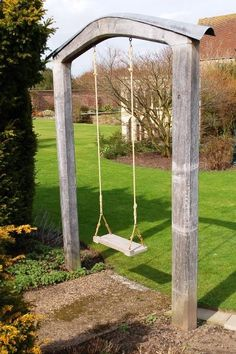 cute way to add swing to backyard