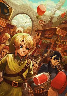 Link in Castle Town. -Twilight Princess