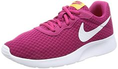 Nike Women's Tanjun Sport Fuchsia/White Tart Running Shoe 8 Women US