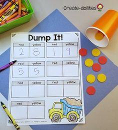 Kindergarten Number Sense Math Centers