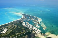 treasure cay, abaco, bahamas.  when you fly into the island, this is the view from the airplane. awesome!